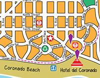 Coronado Island Tourist Map