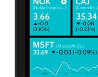 Windows Phone 8 Tile Watchlist
