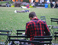 People in the Bryant Park