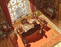 Jules Verne - Color Background