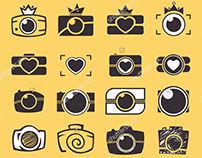 Set of vector icons. Camera for Your Design