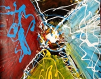 Mix media abstract #art – The Mysterious