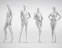 Window mannequins design - prototypes creation