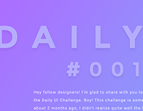 #DailyUI challenge : #001 to #050 - Summary