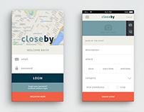 Closeby App Design