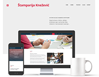 Web design - Print shop website. Concept design.