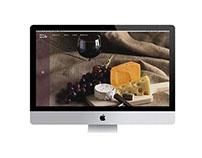 Meat & Wine website design