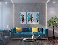 Simple Modern Colorful Living Room