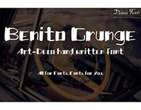 Benito Grunge art-deco font