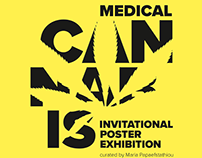 Cannabis Poster Art. Medical Cannabis Exhibition.