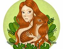 Botanical Girl - Deer
