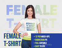Female T-Shirt Mockups Vol5. Part 1