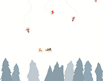 Santa Claus' Skiing
