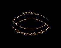 "Logo motion for "" Samira-Brow & Lash """