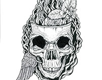Bone Head, Ink on Board, 2016