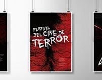 Festival del cine de terror - Diseño de afiches.