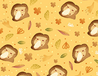 Bekantan - illustration & pattern