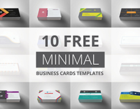 [FREE] - 10 Minimal Business Cards Templates