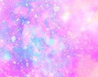 pastel sparkle galaxy wallpaper
