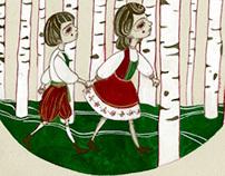 'Baba Yaga' Children's Book Illustrations