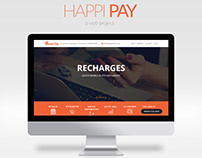 happi-pay web project, bootstrap live website