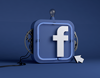 Facebook Icon 3D