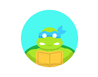 Round Icons IV: 90's TMNT Characters