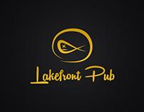 Lakefront Pub Logo Design