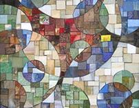 Circles of Squares Mosaic Panels
