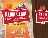 2013 Rajun Cajun Crawfish Festival Logo and Poster