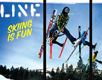 Line Skis Retail Window Graphic