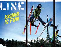 Line Skis Retail Window Graphic