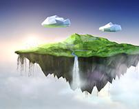 Floating polygon island