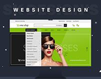 "Ecommerce Website Design ""Sma Shop"""