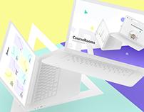 Course Rooms. Educational Web Platform Like Coursera.