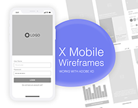 X-Mobile Wireframe for Adobe Xd