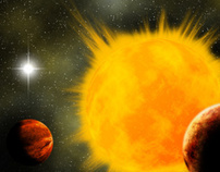exoplanety.cz - logo and space art
