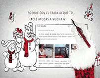 Tarjeta de Navidad Felicitación en Vídeo