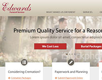 Edwards Funeral Service Website Design
