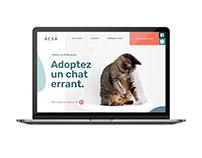 Site web Adoption chats sans abri