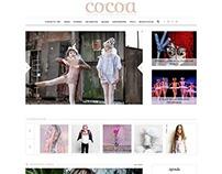Sitio web de Revista Cocoa. Buenos Aires, Argentina