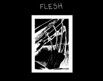 FLESH Illustrated poem by Nicole Saltzer