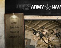 Army Navy E-Commerce Web Design