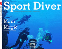 Sports Diver magazine redesign