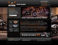 Interface microsite Premont Harley Davidson