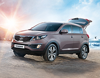 KIA Sportage. A whole new change. KV, prints