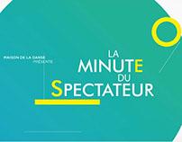 MAISON DE LA DANSE DE LYON - La minute du spectateur