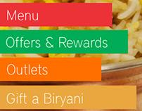 Ammis Biryani Android App Concept