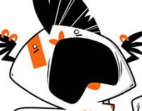 Orange and black lady critter