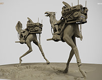 Desert Runners. Clay render